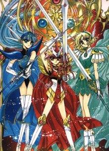 Читать мангу Magic Knight Rayearth / Mahou Kishi Rayearth / Магический рыцарь Раэрт онлайн